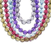 Set of Five Colorful Chunky Faceted Bead Necklaces byGarold Miller — QVC.com