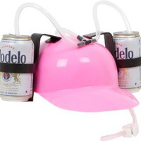 Amazon.com: EZ Drinker Beer and Soda Guzzler Helmet (Pink): Toys & Games