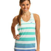 Nike Dri-Fit Cotton Stripe Tank Fiberglass/Violet Force/Violet Force - Zappos.com Free Shipping BOTH Ways