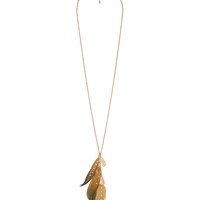 Teardrop Feather Necklace | FOREVER21 - 1000041448