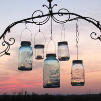Mason Jar Lanterns 15 DIY Hanging Mason Jar Lids, Mason Jar Wedding Lights, Mason Jar Lantern Lids only, No jars, Original by treasureagain