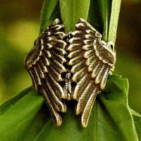 Silver Folded Wings Ring - RagTraderVintage.com