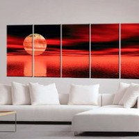 Sunset Paintings, Sunset Painting, Oil Painting, Canvas Art c0097