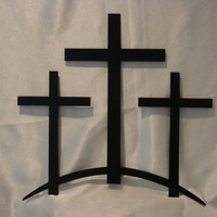 Trinity Crosses 16 Gauge Metal Wall Art