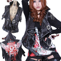 NF korean fashion punk fashion rock japan style cool vest jacket S JA15