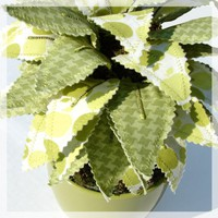 Sweet Leaves  Potted Plant Customize Me by janejoss on Etsy