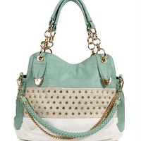Mint Rhinestone Handbag