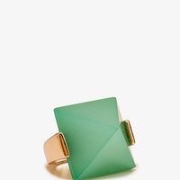 Pyramid Faux Jade Ring