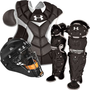 Under Armour Senior Black Catcher&#x27;s Set | Softball.com