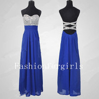 2013 style Glamorous High quality beads Chiffon satin Prom Dress