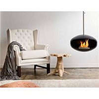 Cocoon Fires Aeris Black Fireplace - Style # cfabaeris, Contemporary and Modern Fireplace Equipment