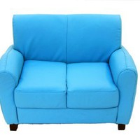 Sky Blue Sofa Loveseat: Toys & Games