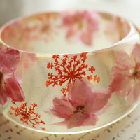 Handmade Real Flower Resin Bangle