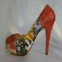 Wizard of Oz theme wedding shoes   bespoke by everlastinglifashion