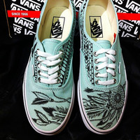 Dreamcatcher Gossamer Green VANS Made to Order by BreakFreeDesigns