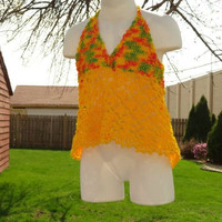 Spring Halter Top for Girl in Yellow