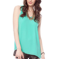 X's on Your Back Top in Emerald :: tobi