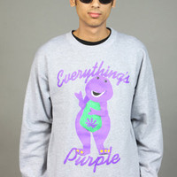 New Jack City Everythings Purple Crewneck