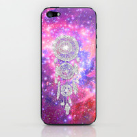 Galaxy Nebula Glitter dreamcatcher Pink Purple Space iPhone & iPod Skin by Girly Trend | Society6