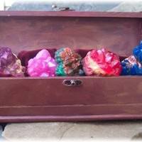 Soap Rock Treasure Chest of Handmade Gemstones | Soapsmith - Bath & Beauty on ArtFire