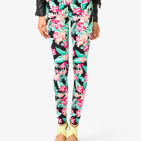 Tropical Floral Print Leggings | FOREVER21 - 2027704263