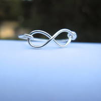 Infinity Ring by DesignedByLei on Etsy