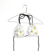 DAISY POP, flower bikini, handmade one off
