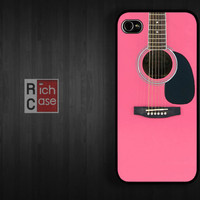Case iPhone 4 Case iPhone 4s Case iPhone 5 Case idea case guitar pink girl music