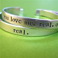 Hunger Games Real or Not Real Cuff Bracelets Set - Spiffing Jewelry