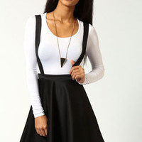 Mae Dungaree Style Skater Skirt With Braces