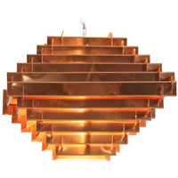1960&#x27;s Copper Constructivist Chandelier style Poul Henningsen