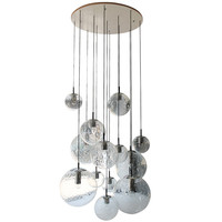 XL Glass Ball Chandelier by RAAK Holland 1960s
