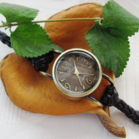 Handmade Bracelet Wrap Bronze Watch - 2013 New Orlogin Style Design  FREE SHIPPING
