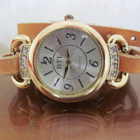Handmade Bracelet Gold Watch  FREE SHIPPING