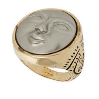 Moon Face Ring - Jewelry  - Accessories  - Topshop USA