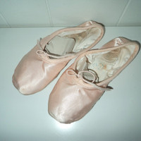 beat up pink satin ballet slippers 6 by InSearchOf on Etsy