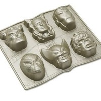 Nordic Ware Marvel Comics Cakelet Pan: Wolverine, Iron Man, Captain America, The Incredible Hulk, Thor and Spinder-Man: Kitchen & Dining