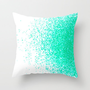 fresh mint flavor Throw Pillow by Marianna Tankelevich