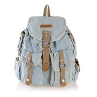 Light Blue Jeans Backpack