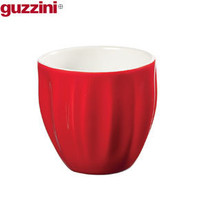 Guzzini Red Ripple Coffee Cup