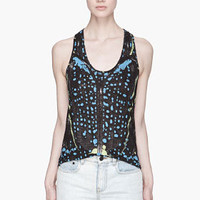 Proenza Schouler Black And Blue Beetle Print Tank for women | SSENSE
