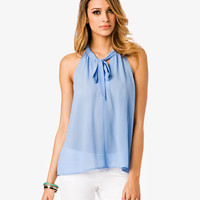 Cutout Tie Neck Top | FOREVER 21 - 2011409433
