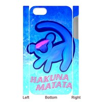 LION KING CARTOON SIMBA Iphone 5 case Iphone 4 4s case 3D