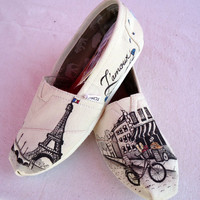 Paris Themed TOMS by LamaLand on Etsy