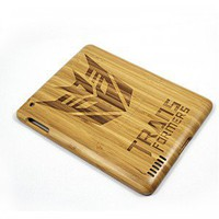 Transformers iPad2 Carved Bamboo Case - Eco friendly New iPad Case