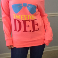 Drop Shoulder Long Sleeve Tee- TWEEDLE DEE