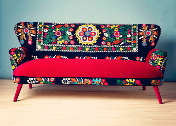 Patchwork Sofa With Suzani Fabrics 3 From Name Design Studio