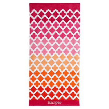 Beach Mosaic Warm Beach Towel