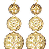 Triple-Circle Drop Earrings