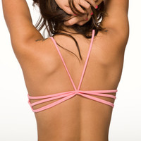 Pink Lingerie - Strappy Back Sleep Bra - Small